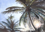 Puerto Rico Paintings - Puntas Sunrise by Sarah Lynch