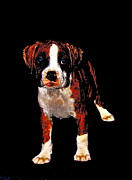 Boxer Puppy Digital Art Posters - Pup 2 Poster by Xn Tyler