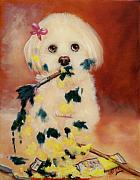 Havanese Paintings - Pupcasso by Joni McPherson