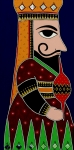 Ethnic Paintings - Puppet King by Bindu Viswanathan