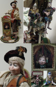 Silk Ceramics - Puppet Master Tableau by Shirley Heyn