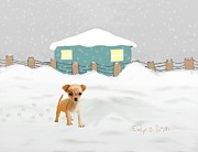 Evelyn O Simon - Puppy in the snow