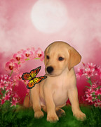 Puppies Mixed Media - Puppy Innocence by Smilin Eyes  Treasures