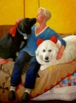 Realism Dogs Art - Puppy Love by Donelli  DiMaria
