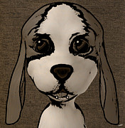 Puppies Digital Art Metal Prints - Puppy Love Metal Print by Fotios Pavlopoulos