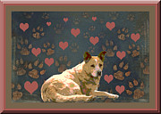 Puppies Digital Art Posters - Puppy Love Poster by One Rude Dawg Orcutt