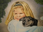 Youthful Painting Metal Prints - Puppy Love Metal Print by Roberta Dunn