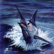 Striped Marlin Prints - Pura Vida Print by Rick Bogert