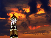 Sunset Wall Art Prints - Purdue Bell Tower Print by Purdue University