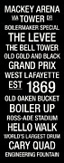 Black And White Drum Posters - Purdue College Town Wall Art Poster by Replay Photos