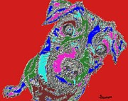 Puppies Digital Art Posters - Pure Energy Poster by Salvadore Delvisco