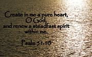 Bible Scripture Canvas Posters - Pure Heart Poster by Sheri McLeroy