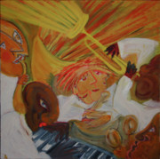 Jazz Painting Originals - Pure Jazz by Manuel Martin