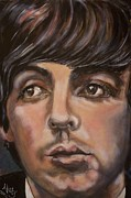Paul Mccartney Portrait Paintings - Pure Paulie 1 by Misty Smith
