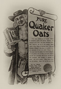 Oatmeal Digital Art Framed Prints - Pure Quaker Oates Framed Print by Bill Cannon