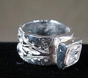 Band Jewelry Originals - Pure silver Band  by Louise Musto-Choate