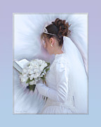 Canvas Framed Prints - Pure Spotless Bride Framed Print by Constance Woods