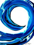 Blue And White Painting Prints - Pure Water 203 Print by Sharon Cummings