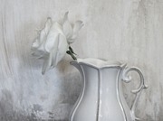 Still Life With Pitcher Art - Pure White by Marsha Heiken
