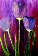 Flower Painting Originals - Purely Purple  by Julie Lueders