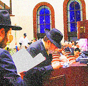 Synagogue Digital Art - Purim Prayer by Michael Klein