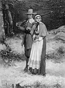 Protestantism Prints - Puritan Couple, 17th Century Print by Photo Researchers