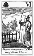 English Civil War Prints - PURITANS: SATIRE, c1650 Print by Granger