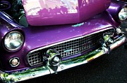 Purple Ford Photos - Purple 56 Thunderbird by Cathie Tyler