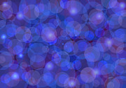Purples Prints - Purple And Blue Abstract Print by Frank Tschakert