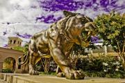 Historic Statue Art - Purple and Gold by Scott Pellegrin
