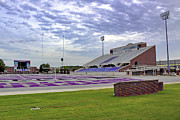 Arkansas Football Framed Prints - Purple and Silver Framed Print by Jason Politte
