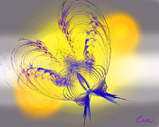 Signed Digital Art Posters - Purple Anita Butterfly 2 07 02 2012 Poster by Feile Case