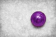 Shiny Mixed Media - Purple Ball Cat Toy by Andee Photography