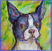 M C Sturman - Purple Boston Terrier