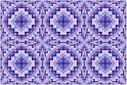 Op Art Digital Art Posters - Purple Bumps Poster by Chris Long