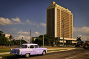 50s Photos - Purple car by Andriy Zolotoiy
