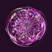 Sphere Framed Prints - Purple Chaos Framed Print by Robert Gipson