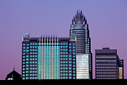 Mecklenburg County Prints - Purple Charlotte sunset Print by Patrick Schneider