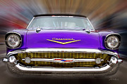 Classic Car.hot-rod Photos - Purple Chevy by Frederic A Reinecke