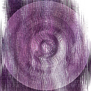 Purple Concentric Circles Print by Bonnie Bruno