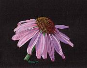 Flower Pastels - Purple Coneflower by Mendy Pedersen