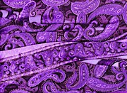 Purple Crossroads With Curves Print by Anne-Elizabeth Whiteway