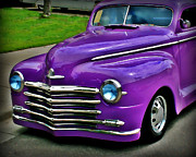 Purple Hot Rod Posters - Purple Cruise Poster by Perry Webster