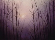 Artist Curtis James Pastels - Purple Dawn by Curtis James