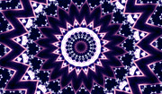 Fractal Patterns - Purple Diamond Swirl by Edan Chapman