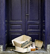 Abandoned Houses Photos - Purple door. Belgrade. Serbia by Juan Carlos Ferro Duque