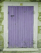 French Door Prints - Purple Door Number 46 Print by Georgia Fowler