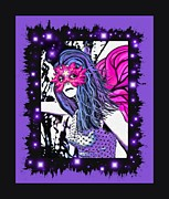Faries Prints - Purple Fairytales Print by Tisha McGee