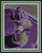 Purple Print Framed Prints - Purple Fire Plug Framed Print by Joe JAKE Pratt