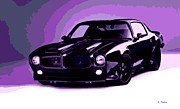 Hand Crafted Art - Purple Firebird by George Pedro